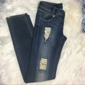 Stretch distressed skinny jeans by David Bitton